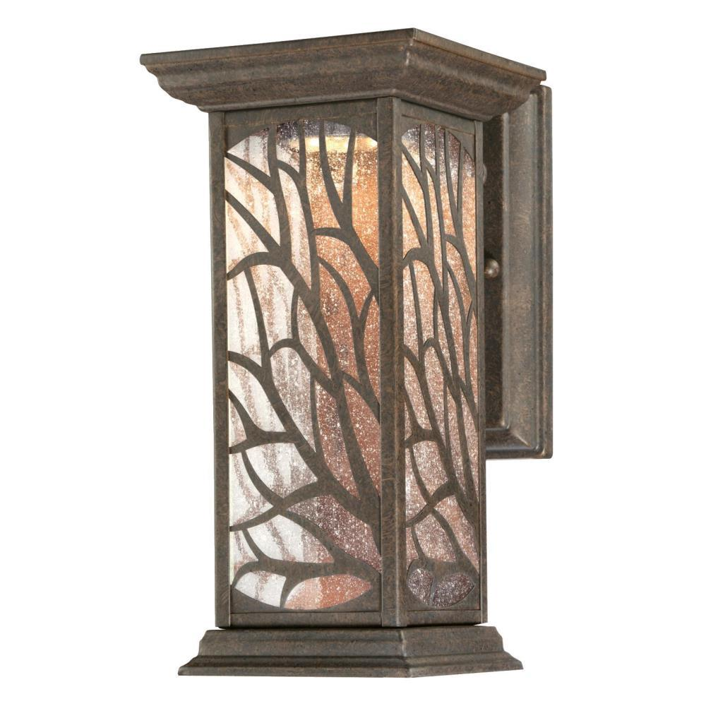 Westinghouse Glenwillow 1 Light Victorian Bronze Outdoor Integrated Led Wall Mount Lantern
