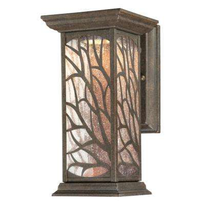 Glenwillow 1-Light Victorian Bronze Outdoor Integrated LED Wall Mount Lantern
