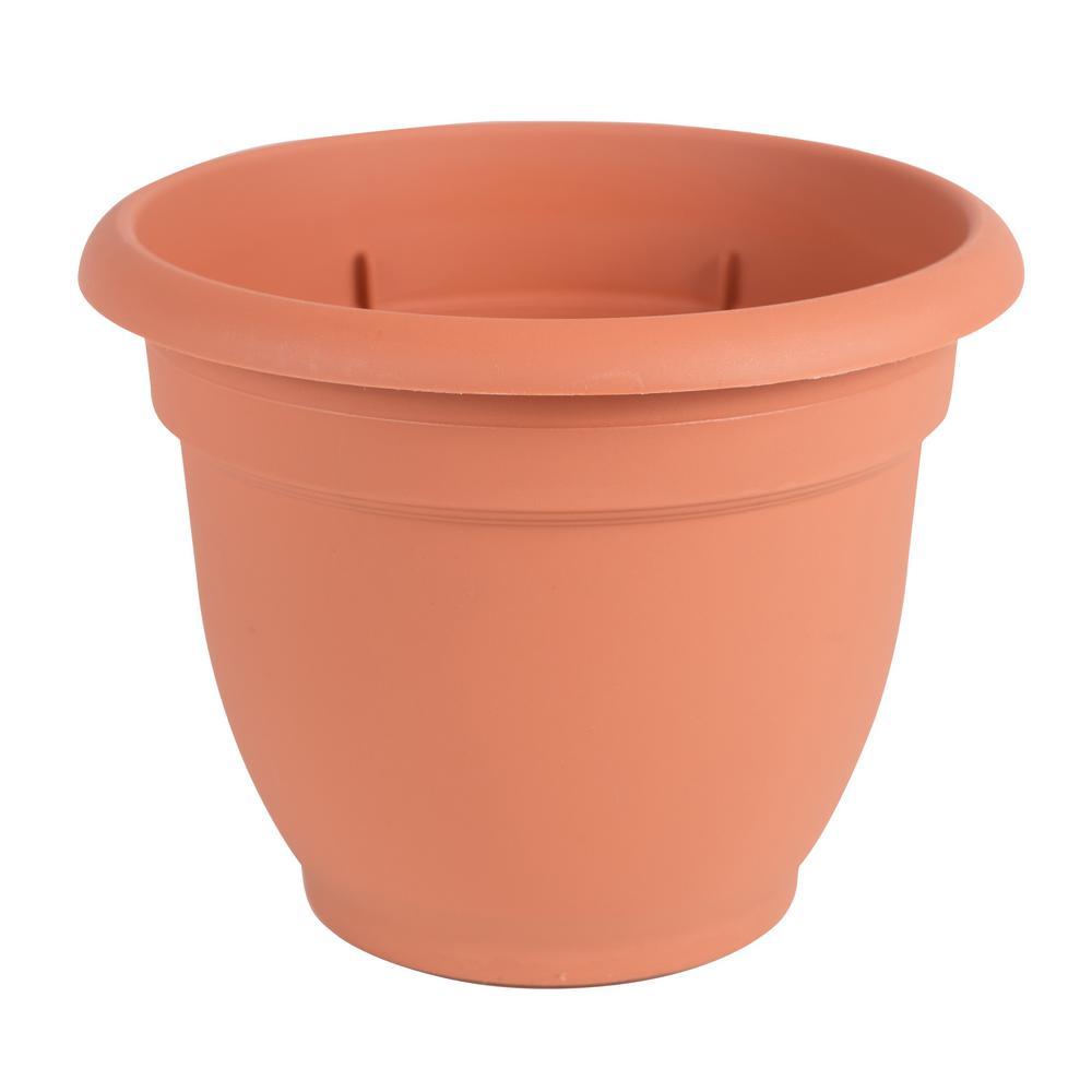 6 x 5.25 Terra Cotta Ariana Plastic Self Watering Planter