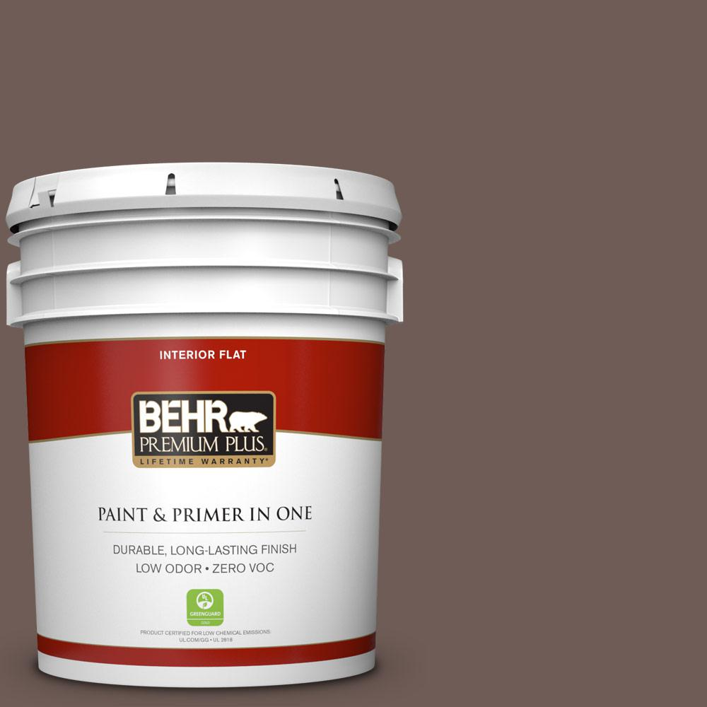 5 gal. #750B-6 Tree Bark Zero VOC Flat Interior Paint