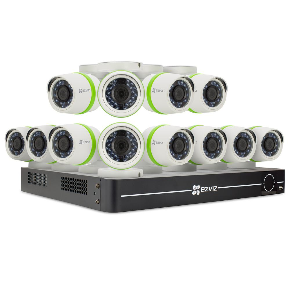 EZVIZ Security Camera System 12 HD 16-Channel 1080p Cameras 2TB and Up HDD  Surveillance Systems 100 ft  Night Vision