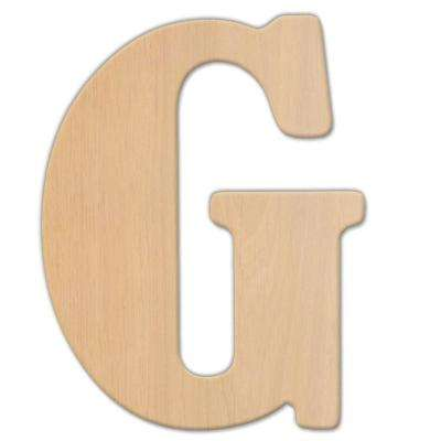 15 in. Oversized Unfinished Wood Letter (G)