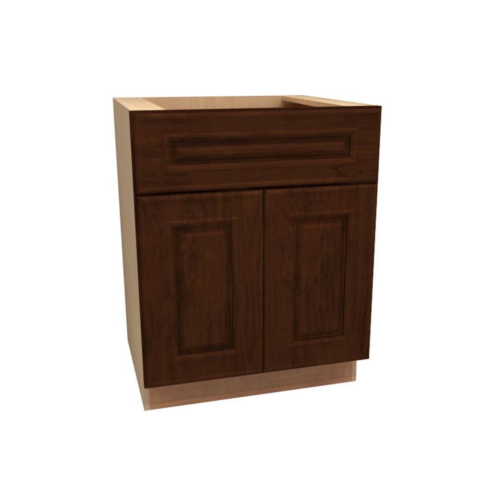 Roxbury Assembled 27x34.5x24 in. Double Door Base Kitchen Cabinet & Drawer in Manganite