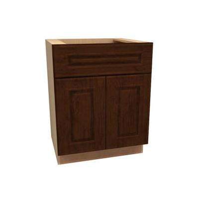 30x34.5x24 in. Roxbury Assembled Base Cabinet with Double Doors in Manganite Glaze