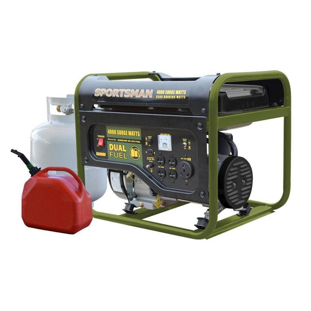 Sportsman 4,000/3,500-W Dual Fuel Powered Portable Generator Deals