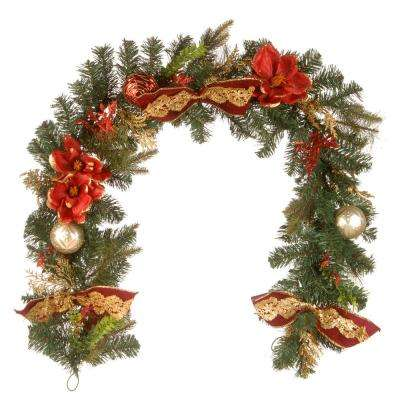 6 ft. x 12 in. Decorative Garland with Ornaments and Bows
