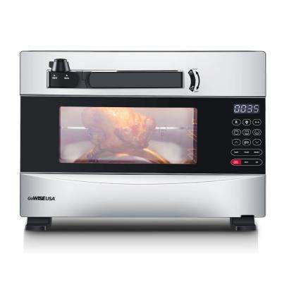 1600-Watts Stainless Steel 27 Qt. Electric Programmable Pressure Oven with Rotisserie Function and DIY Presets