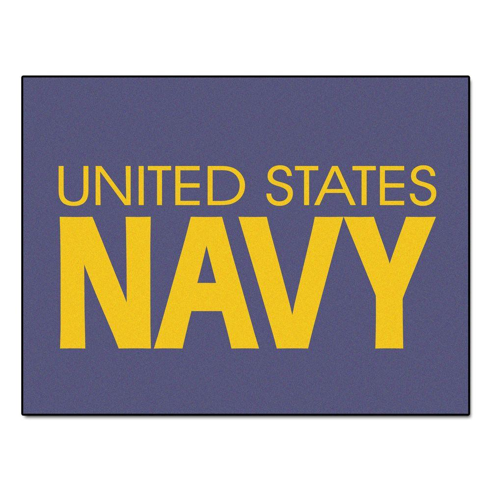 FANMATS U.S. Navy 3 ft. x 4 ft. All-Star Rug