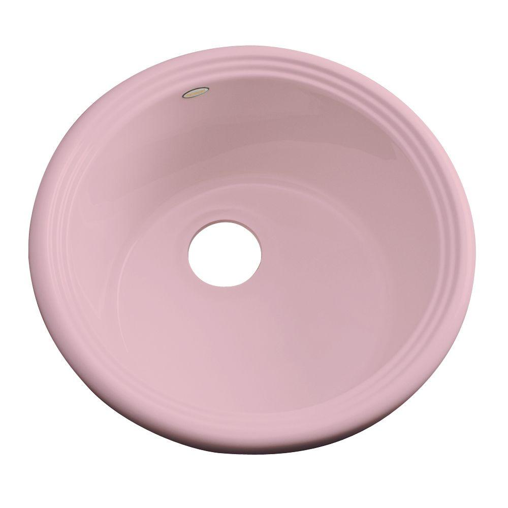 Thermocast Hampton Drop-In Acrylic 18 in. Single Basin Entertainment Sink in Dusty Rose