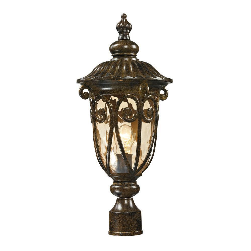 Chantal Collection 1-Light Hazelnut Bronze Outdoor Post Light