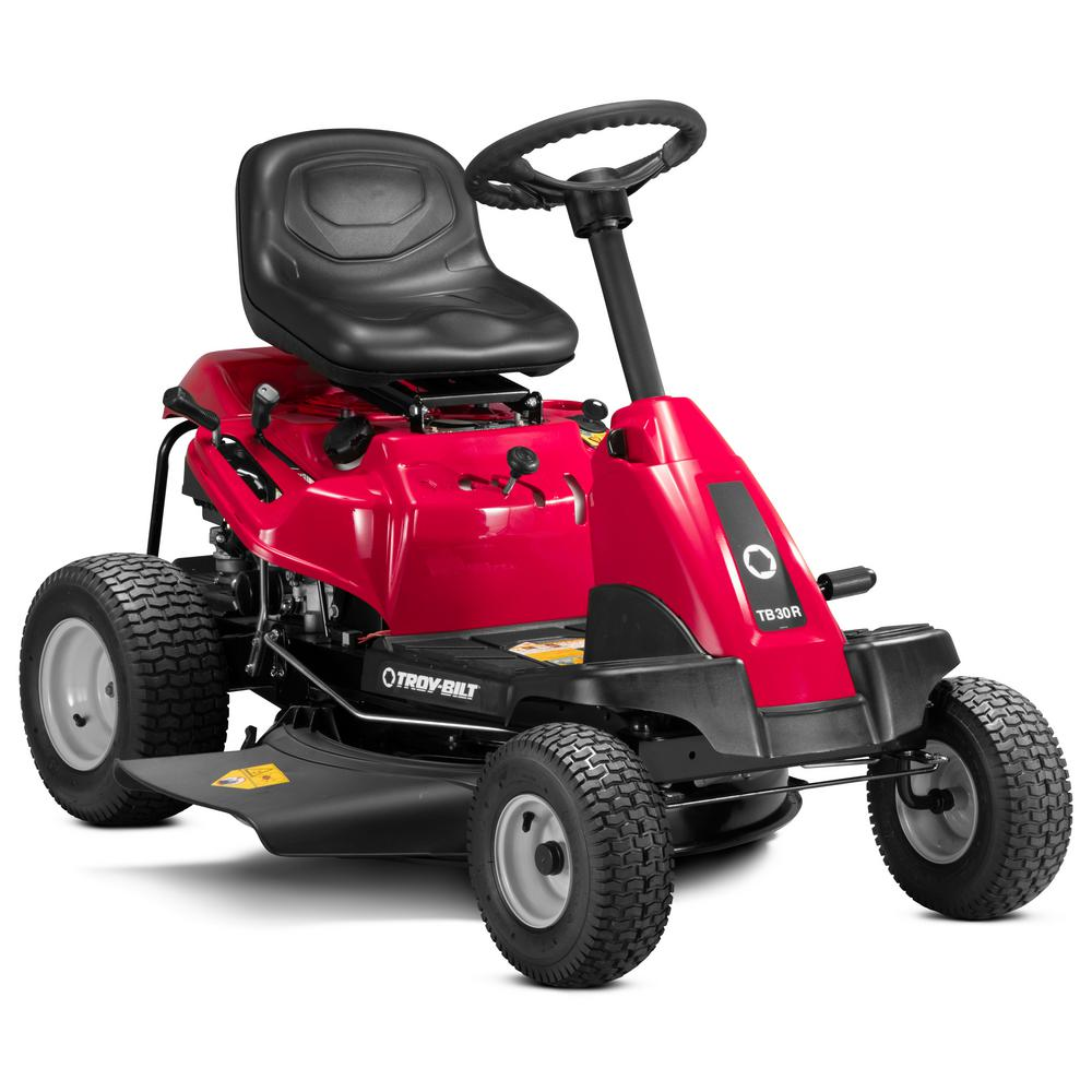 Troy-Bilt 30 in. 382 cc Auto-Choke Engine 6-Speed Manual Drive Gas Rear Engine Riding Lawn Mower with Mulch Kit (CA Compliant)