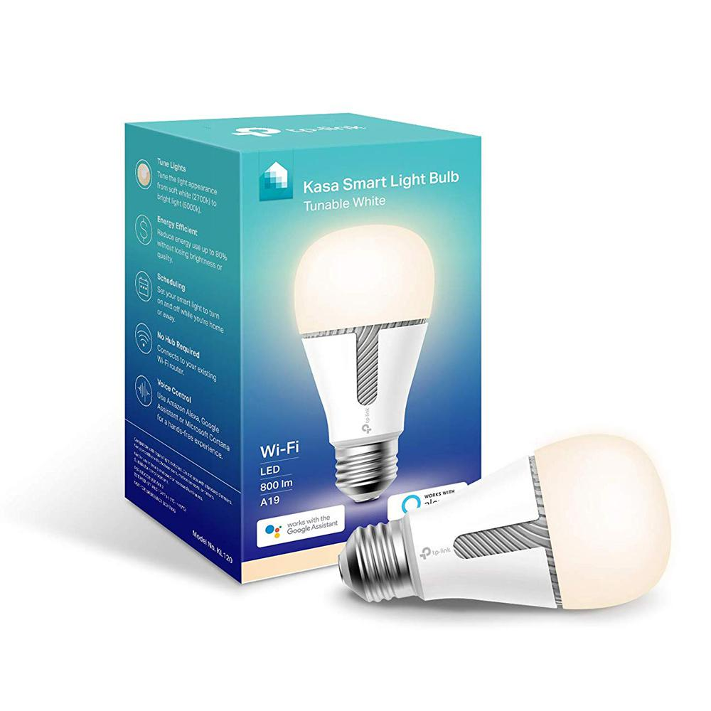 TP-LINK 60-Watt Equivalent 10-Watt A19 - E26 Smart LED Light Bulb 2700/5000K in Soft White/Daylight