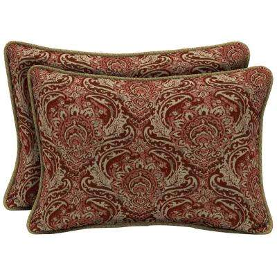 Venice Oversize Lumbar Outdoor Throw Pillow with Welt (2-Pack)