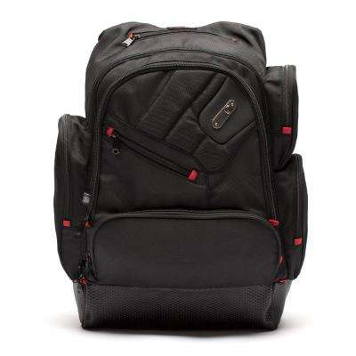 Refugee Laptop Backpack Holds a 15 in. Black Laptop MP3 Pocket with Headphone Audio Port