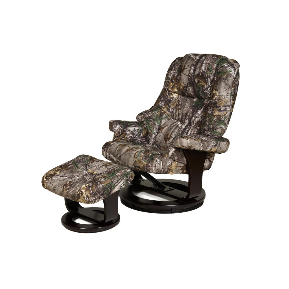 Camo Lounge Chair: Relaxzen Camo 8-Motor Massage Recliner With Heat And