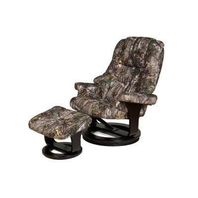 Camo 8-Motor Massage Recliner with Heat and Ottoman