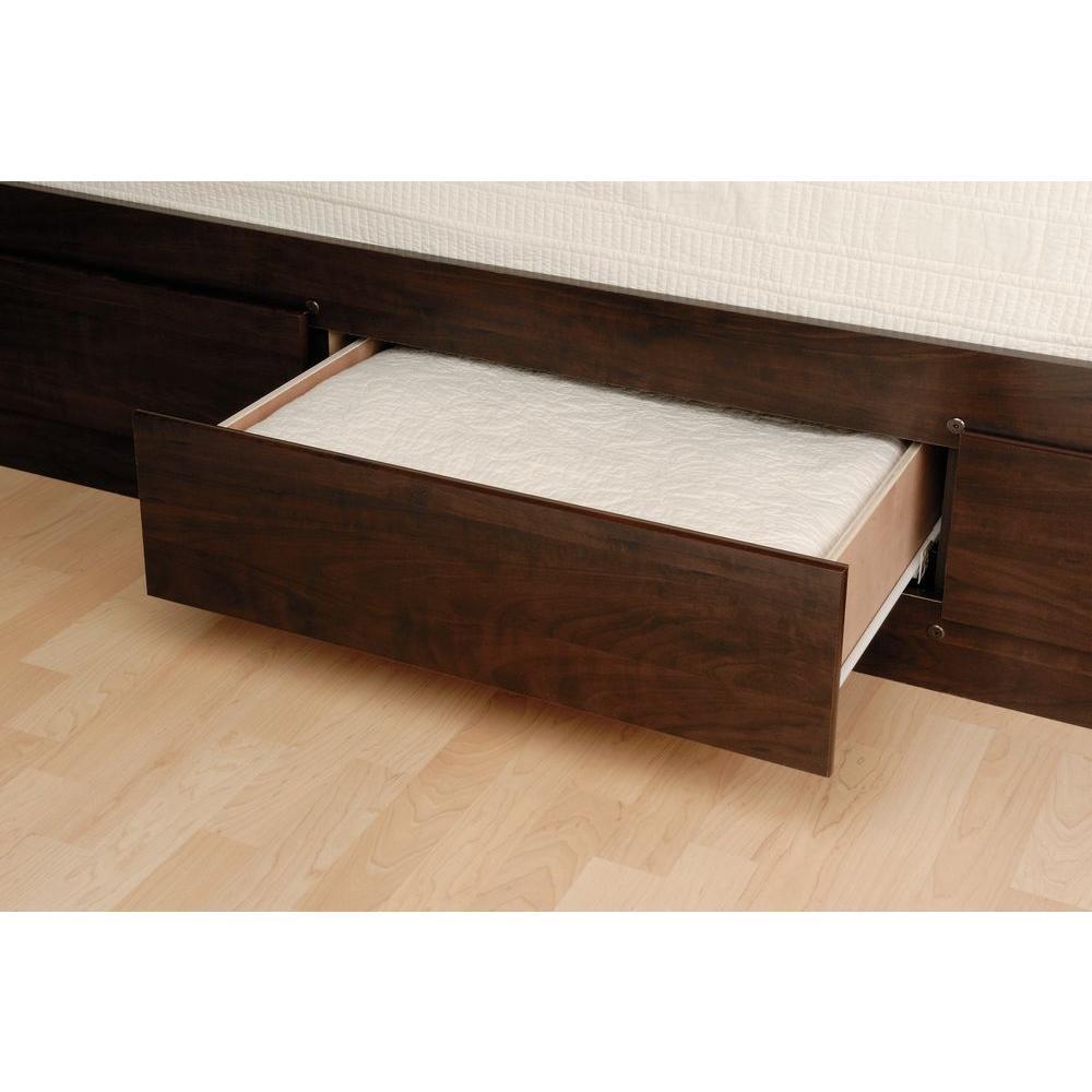 Prepac Queen Wood Storage Bed EBQ-6212-K