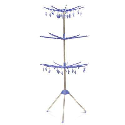 Yijin 29 in. W x 65 in. H Blue Metal Drying Stand