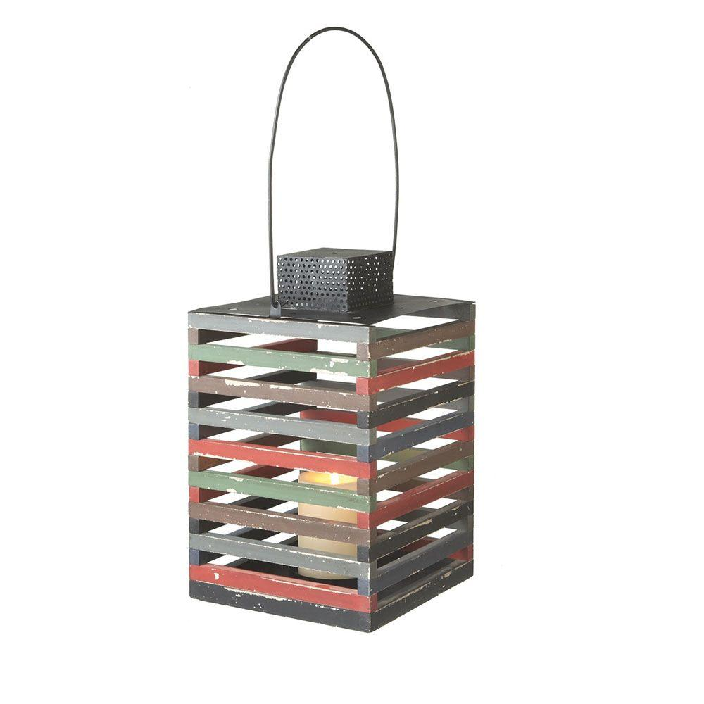 Filament Design Sundry 20 in. Multi Colored Pillar Candle Holder