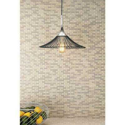 Industrial Brushed Silver Iron Light Pendant