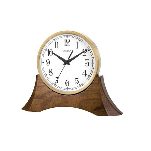 W Brown Cherry Table Clock With Hardwood