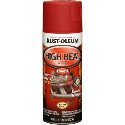 12 oz. High Heat Flat Red Protective Enamel Spray Paint (6-Pack)