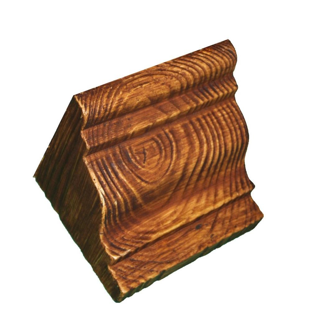 null 5-3/4 in. x 5-3/4 in. x 7-1/4 in. Prefinished Polyurethane Raised Grain Faux Wood Corbel
