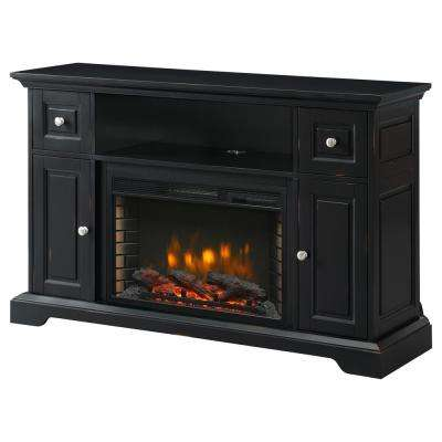 Fabulous Sutherland 53 In Freestanding Electric Fireplace Tv Stand In Aged Black Download Free Architecture Designs Scobabritishbridgeorg