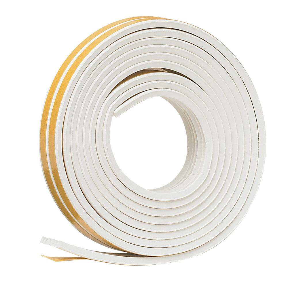 E/O 3/8 in. x 17 ft. White Ribbed EPDM Cellular Rubber