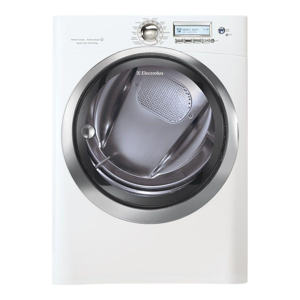 Electrolux Wave-Touch 8.0 cu. ft. Gas Dryer with Steam in Island White