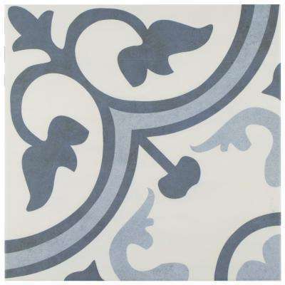 Amberes Azul Encaustic 12-3/8 in. x 12-3/8 in. Ceramic Floor and Wall Tile (10.96 sq. ft. / case)