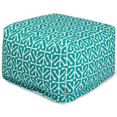 Teal Aruba Outdoor/Indoor Large Ottoman Insert