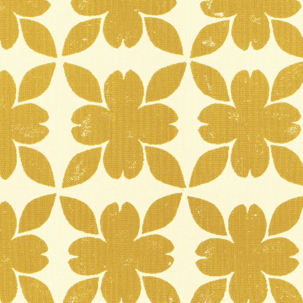 Home Decorators Collection Sunbrella Floret Honey Outdoor Fabric By The Yard