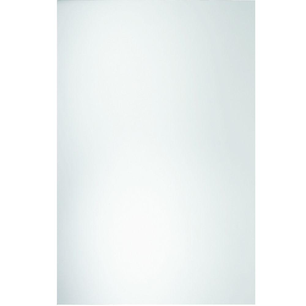 Glacier Bay 42 in. L x 36 in. W Polished Edge Mirror