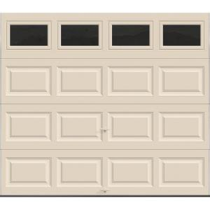 Charmant Clopay Classic Collection 8 Ft. X 7 Ft. 12.9 R Value Intellicore Insulated Almond  Garage Door With Plain Windows HDP13_AL_Plain   The Home Depot