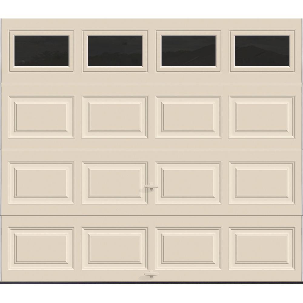 almond garage doorClopay Premium Series 8 ft x 7 ft 129 RValue Intellicore