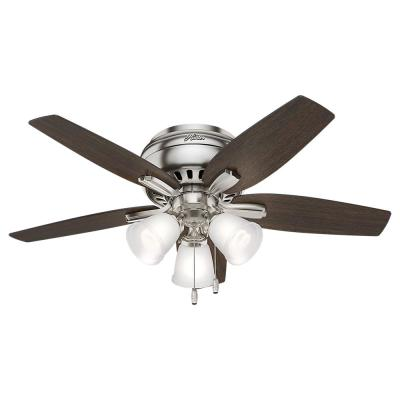 Newsome 42 in. Indoor Low Profile Brushed Nickel Ceiling Fan with 3-Light Kit