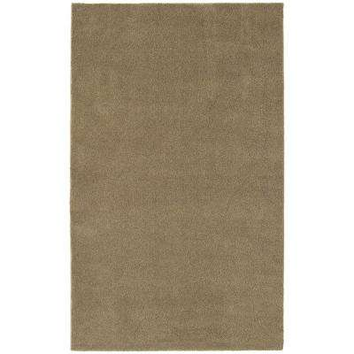 Washable Room Size Bathroom Carpet Taupe 5 ft. x 8 ft. Area Rug