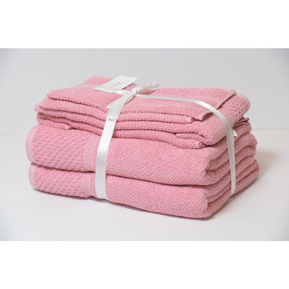 Diplomat 6-Piece Rose 100% Cotton Bath Towel Set