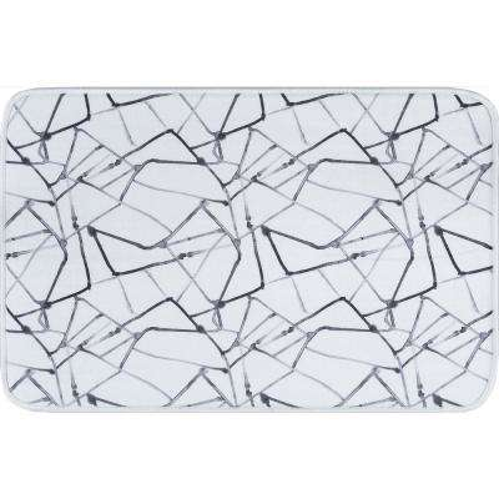 Luxor Home White 2 ft. x 3 ft. Anti-Fatigue Non-Slip Comfort Mat