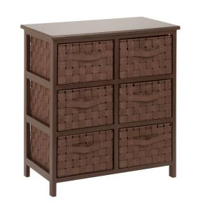 6-Drawer Woven Strap Chest in Java