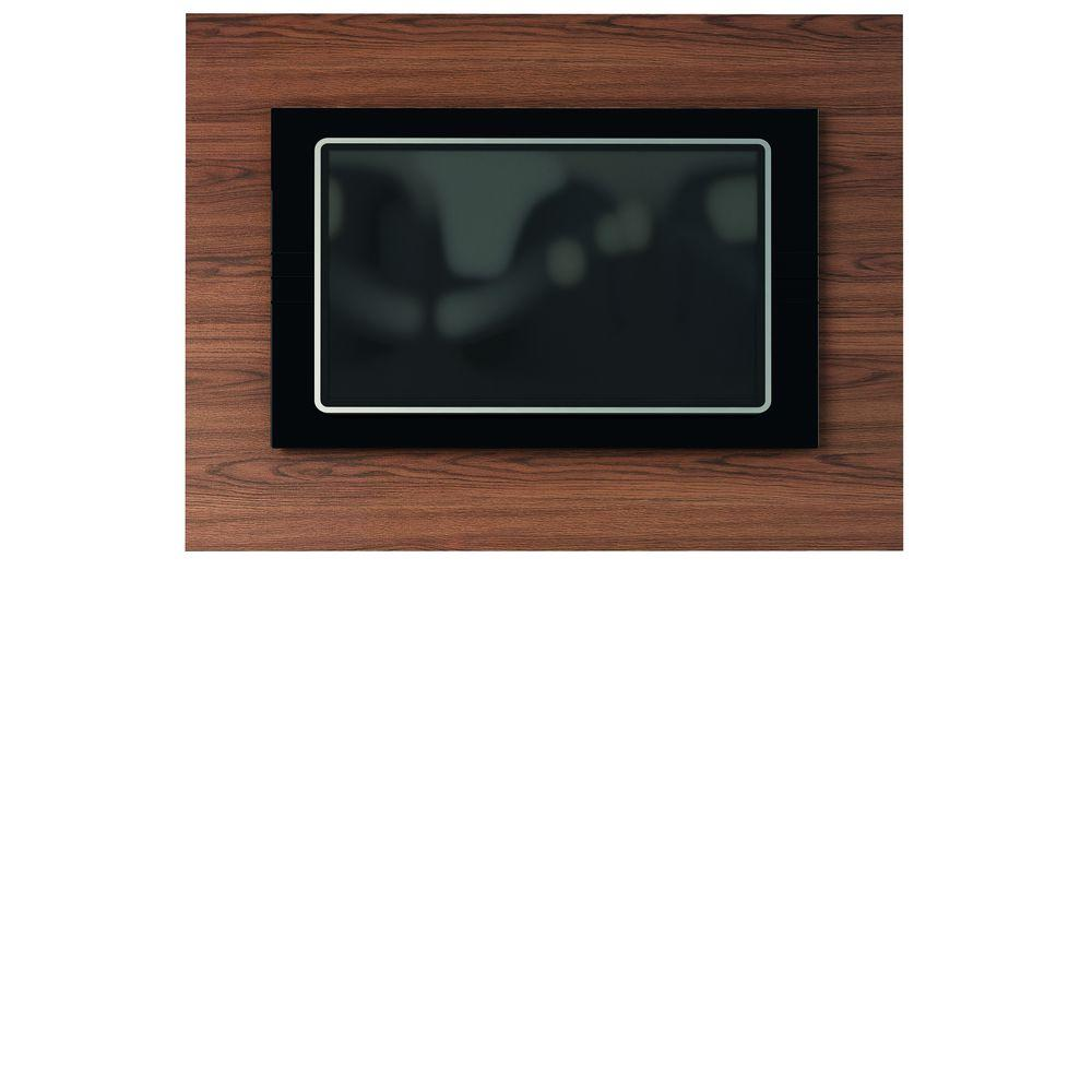 Manhattan Comfort Spring TV Panel in Mocha and Black/ Pro-Touch