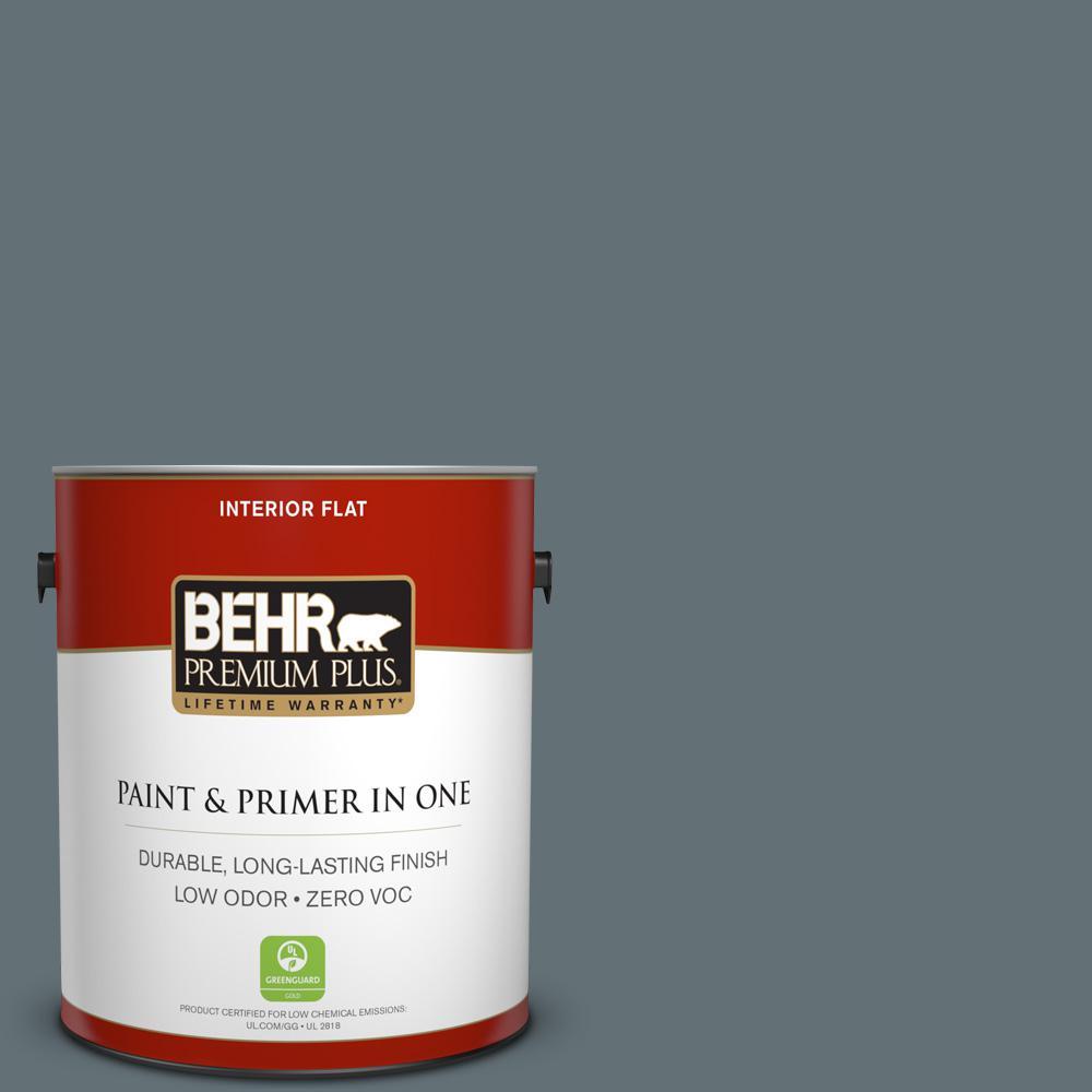 BEHR Premium Plus 1-gal. #ECC-22-3 Rain Shadow Zero VOC Flat Interior Paint