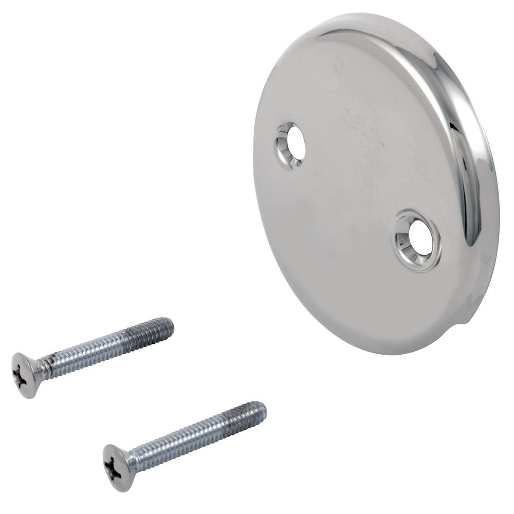 Delta Classic Overflow Plate in Chrome (Grey)