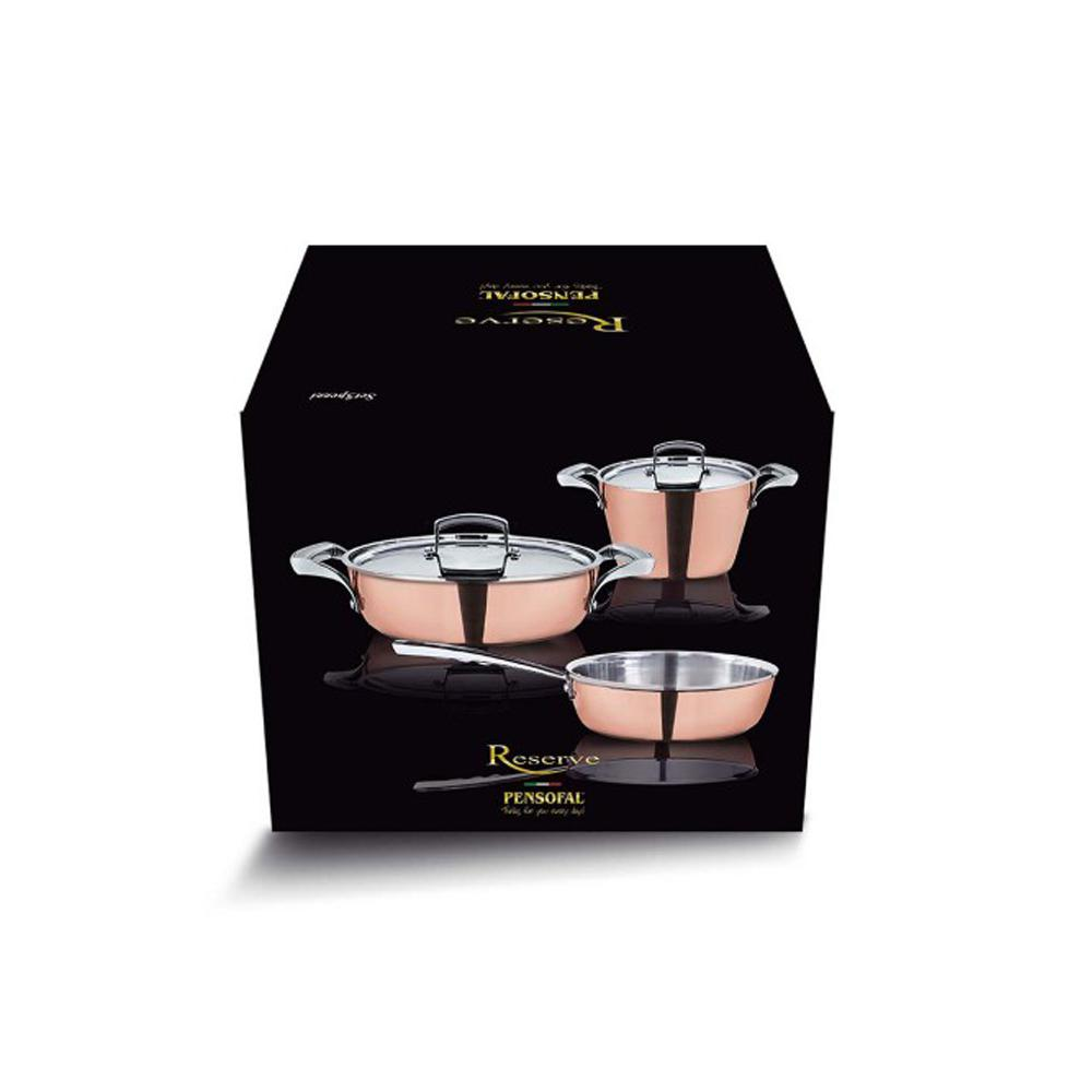 Pensofal Reserve 5-Piece Stainless Steel Cookware Set, Brown