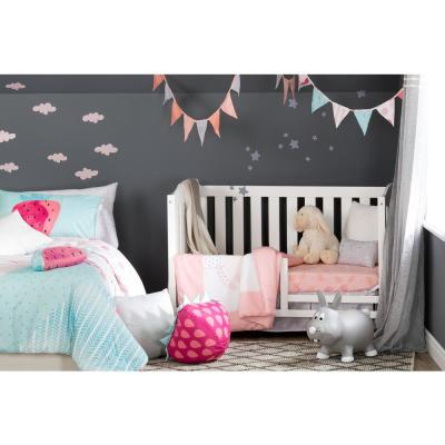 Dreamit 3-Piece Pink Geometric Polyester Crib Bedding Set