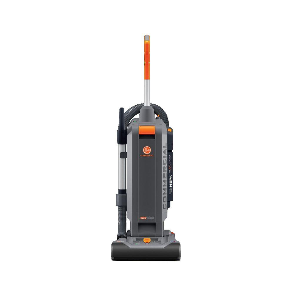 Hoover Commercial HushTone 13 In Hard Bagged Upright Vacuum Cleaner With Intellibelt