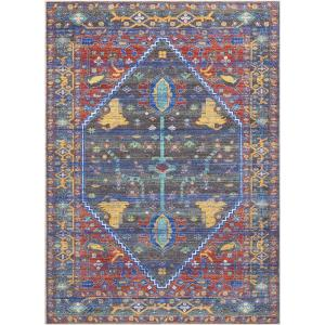 Nourison Delmar Navy/Red 9 ft. 10 inch x 13 ft. 2 inch Area Rug by Nourison