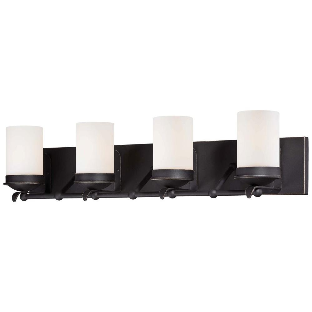 Minka Lavery Kingsgate 4-Light Kona Black Bath Light