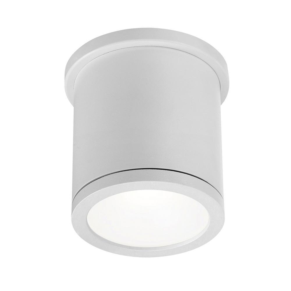 Tube 5 in. 1-Light White ENERGY STAR LED Indoor or Outdoor Flush Mount